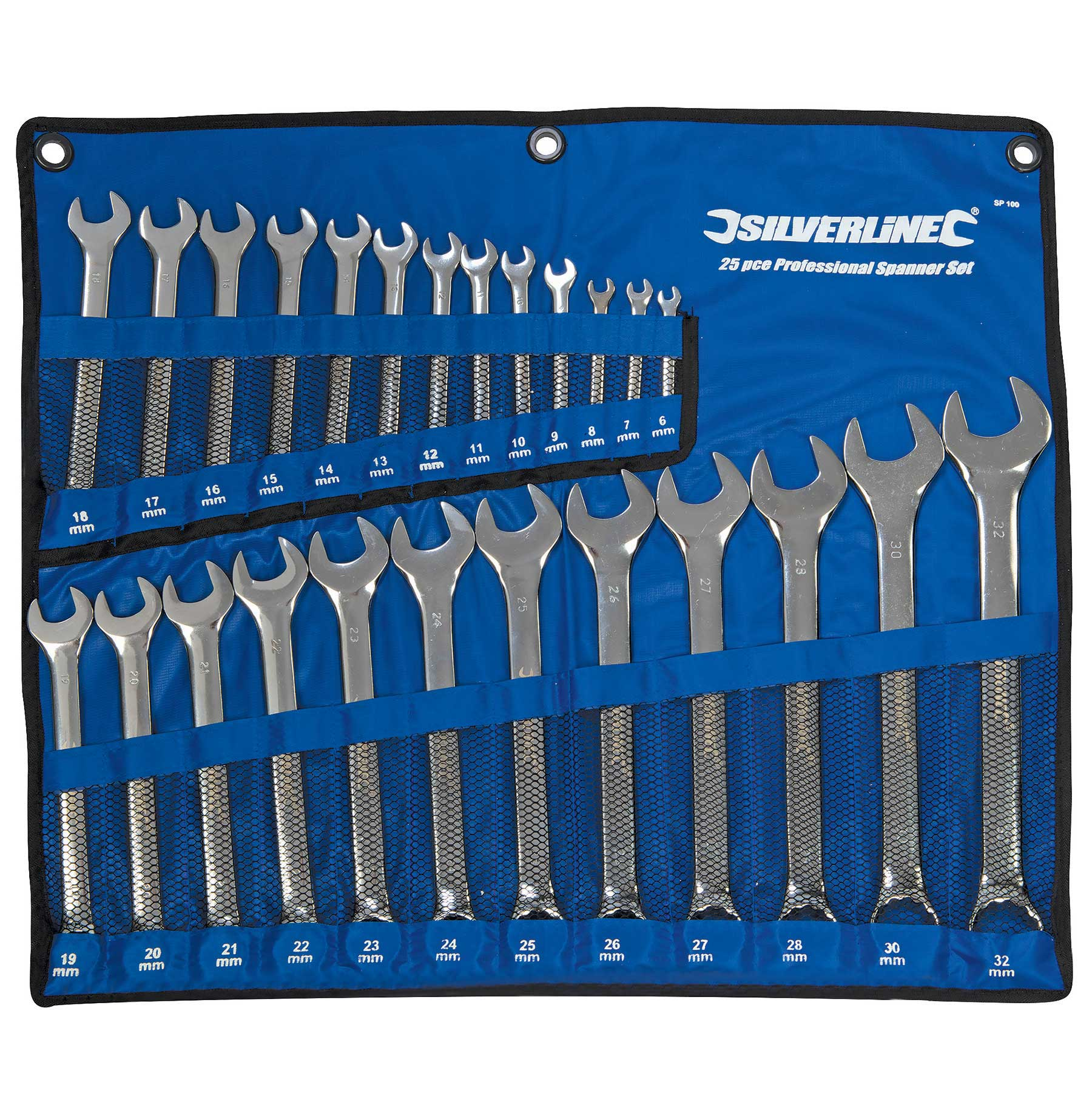 Pro Quality 25pce Metric Combination Spanner Set 6 32mm