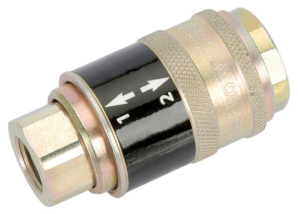 Draper 41879 ASC21CF 1/4 BSP Female Parallel Safeflow Air Line Coupling Thumbnail 1