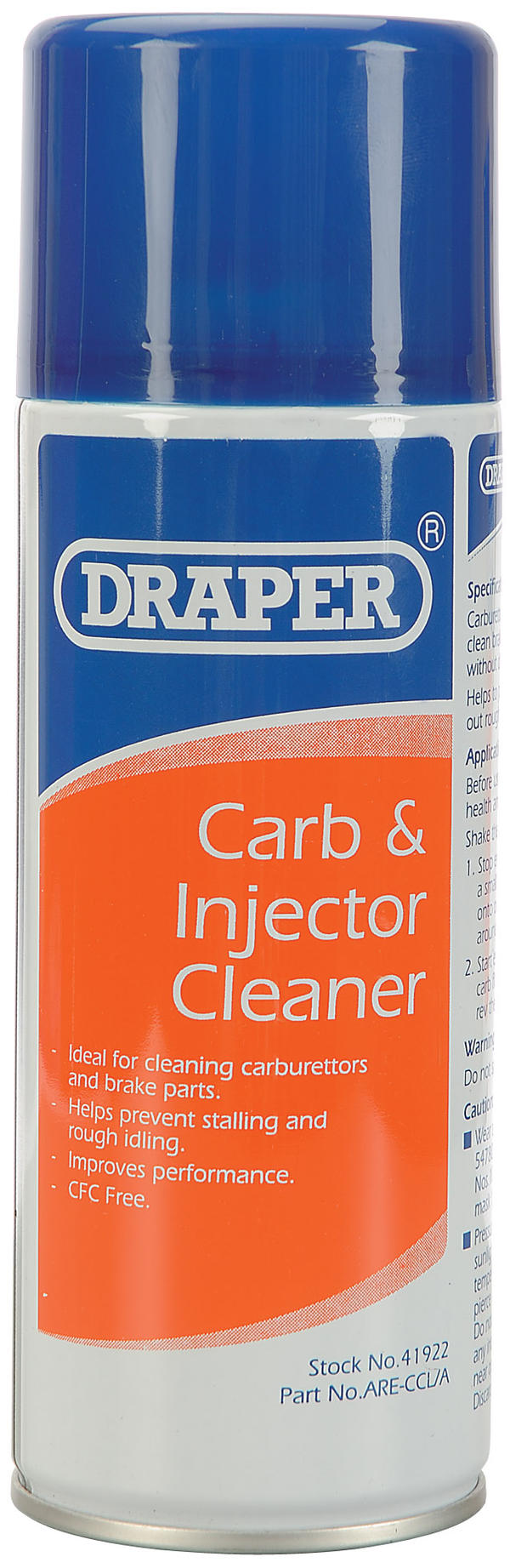 Draper 41922 ARE-CCL/A 400Ml Carburettor And Injector Cleaner Thumbnail 1