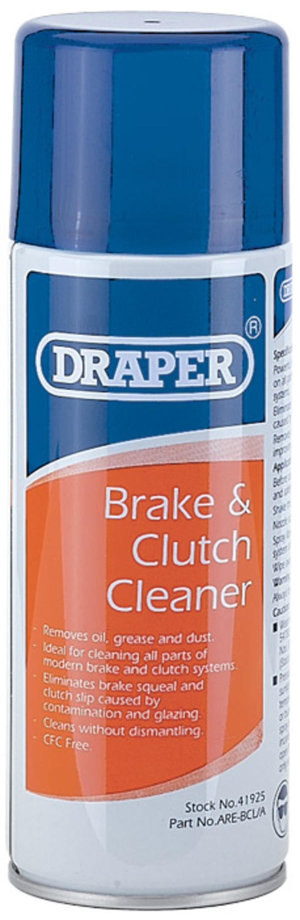 Draper 41925 ARE-BCL/A 400Ml Brake & Clutch Cleaner Spray Thumbnail 2