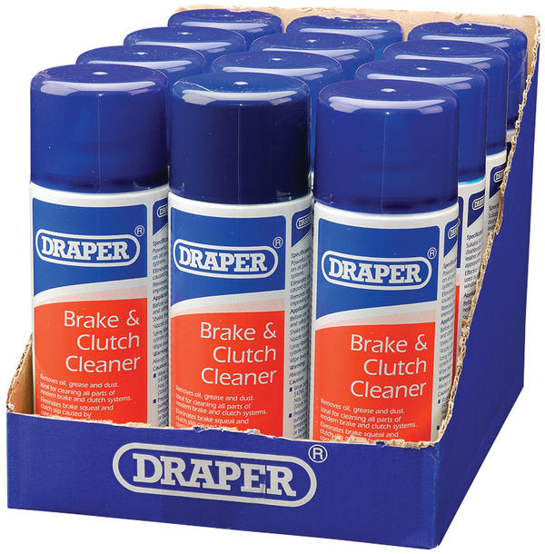 Draper 41925 ARE-BCL/A 400Ml Brake & Clutch Cleaner Spray Thumbnail 1