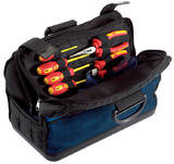Draper 41930 TBMHBH Expert 420mm Cantilever Tool Bag with Heavy Duty Plastic Base and Handles