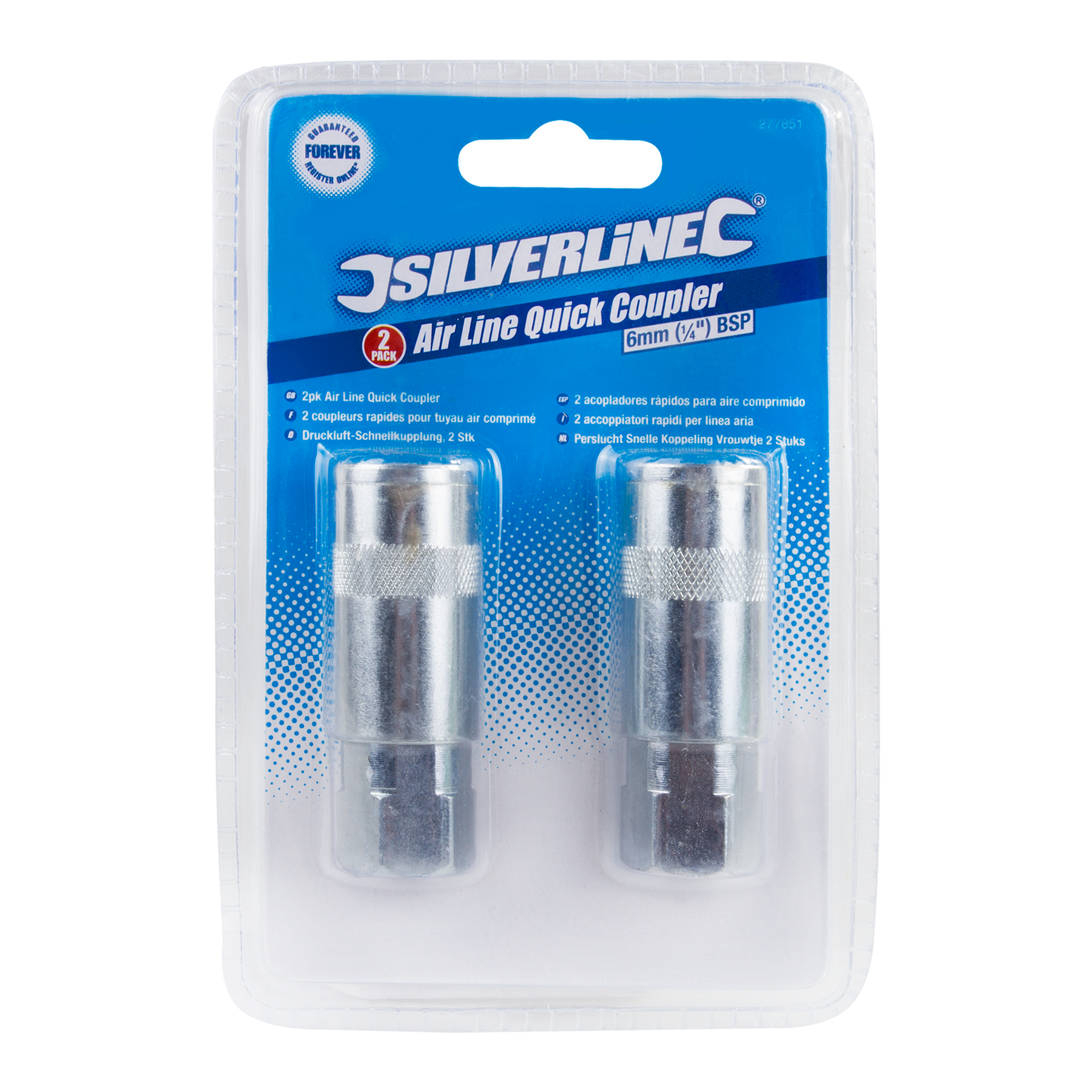 Silverline 277851 Air Tools Quick Connector Female Thread x 2 Thumbnail 2