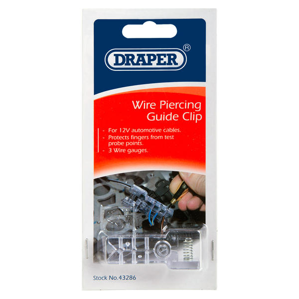 Draper 43286 WPG1 Vehicle Wire Piercing Guide Clip Thumbnail 2