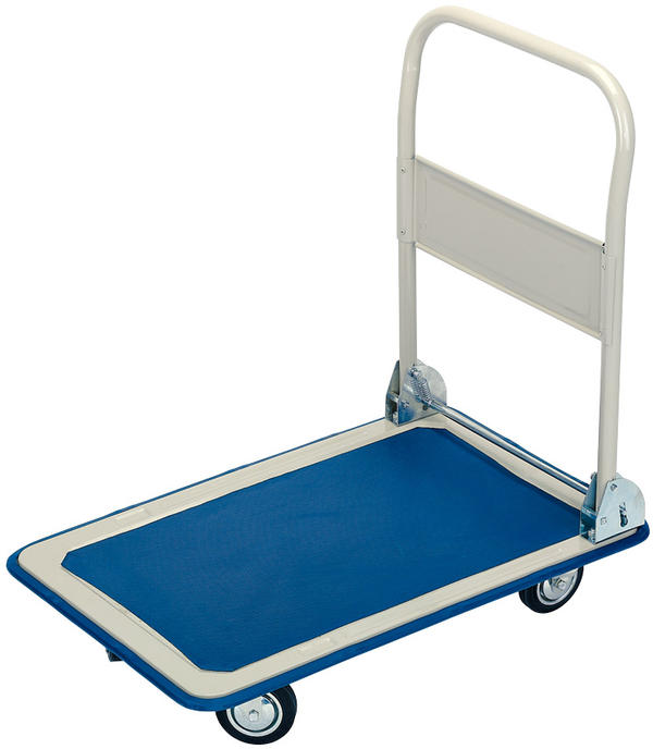Draper 44005 FRT 150kg Platform Trolley with Folding Handle - 630 x 480 x 850mm Thumbnail 1