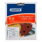 Draper 44342 SD5V Pack of 10 125mm 320 Grit Sanding Discs