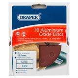 Draper 44344 SD5V Pack Of 10 125mm 400 Grit Hook & Loop Sanding Discs