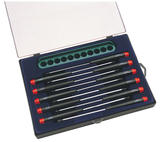 Draper 50809 PS1411 Precision Screwdriver Set With Wall Rack 11 Pc