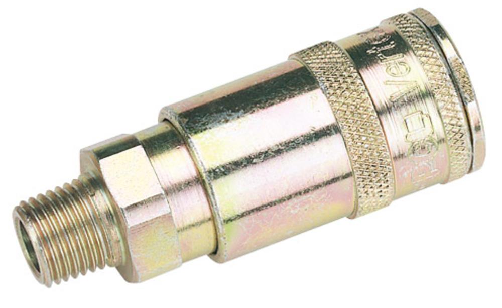 Draper 51385 A91CM02 BULK 1/4 BSP Taper Male Thread Vertex Air Coupl