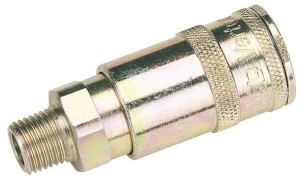Draper 51402 A91CM02 1/4 BSP Taper Male Thread Vertex Air Coupling Thumbnail 2
