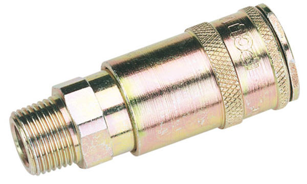 Draper 51408 A91EM02 3/8 BSP Taper Male Thread Vertex Air Coupling Thumbnail 1