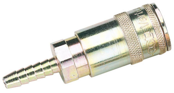 Draper 51414 A91R02 1/4 Bore Vertex Air Line Coupling With Tailpiece Thumbnail 2
