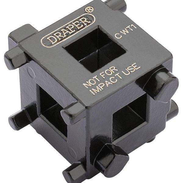 Draper 52334 CWT1 3/8 Square Drive Brake Caliper Wind Back Cube Thumbnail 1