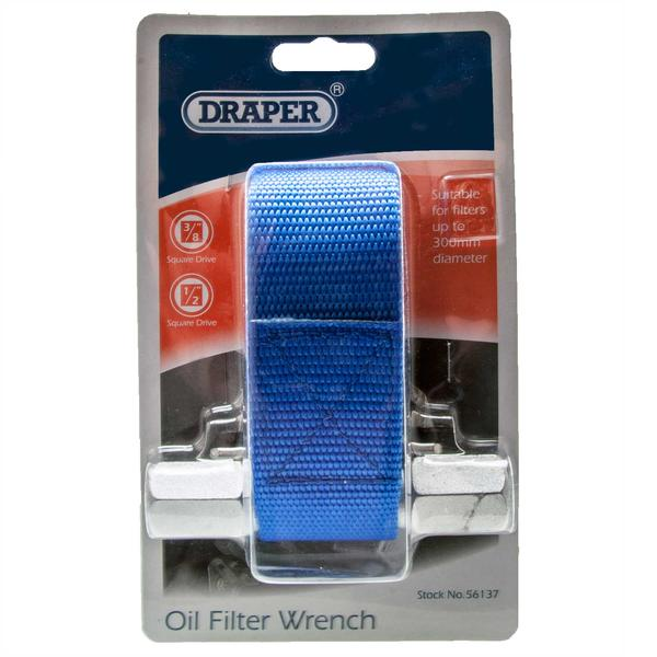 Draper 56137 OFW 300 300mm Capacity Oil Filter Strap Wrench Thumbnail 2