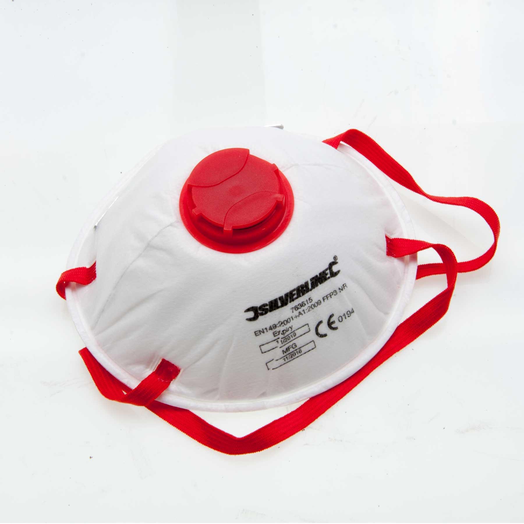 Silverline 427698 Dust Mask Ffp3 Pk10 Silverline 427698