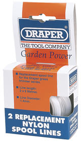 Draper 56726 AGP5 Two 6m x 1.4mm Replacement Nylon Spool Lines
