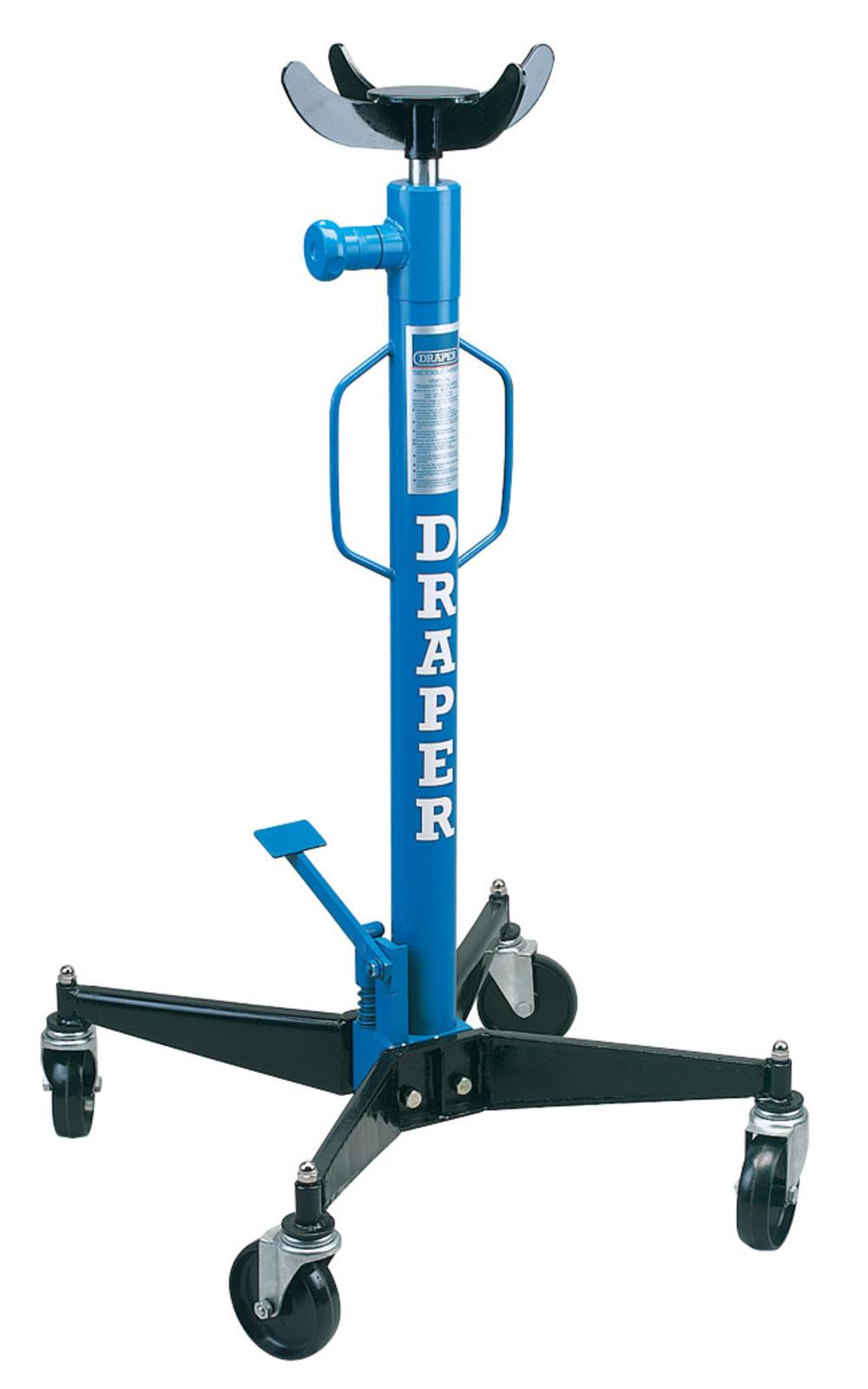 Pipe Jack Stands >> Draper 56731 TJ600TV 600kg Vertical Transmission Jack ...
