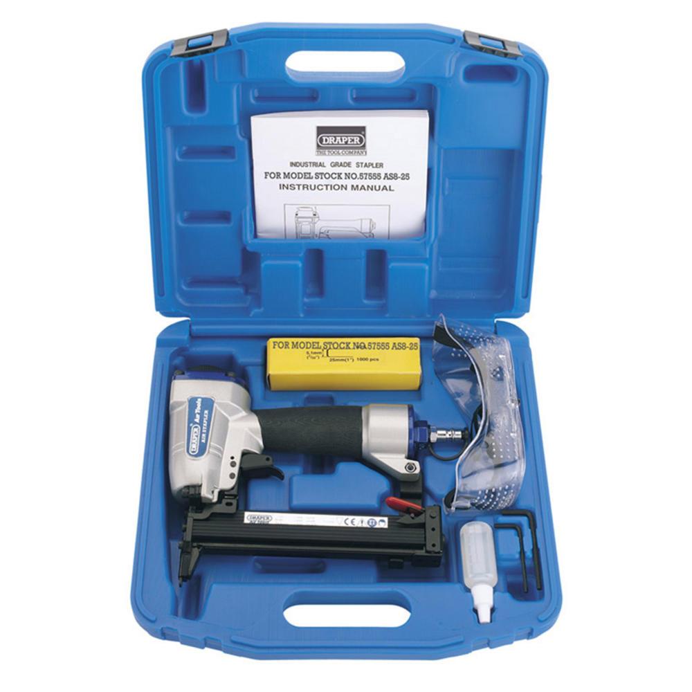 Draper 57555 AS8-25 8-25mm Air Stapler Kit