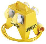 Draper 61996 EL4 4 Way Junction Box for 110V Site Transformer