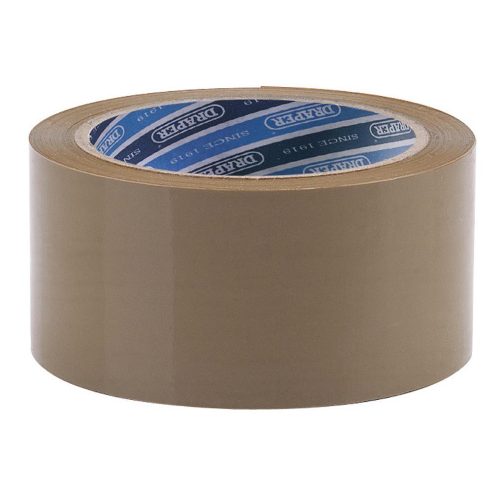 Draper 63388 TP-PACK 66M x 50mm Packing Tape Roll
