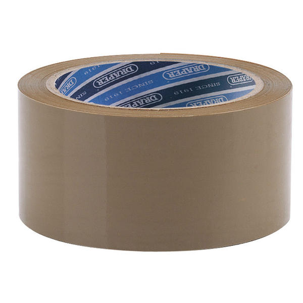 Draper 63388 TP-PACK 66M x 50mm Packing Tape Roll Thumbnail 1