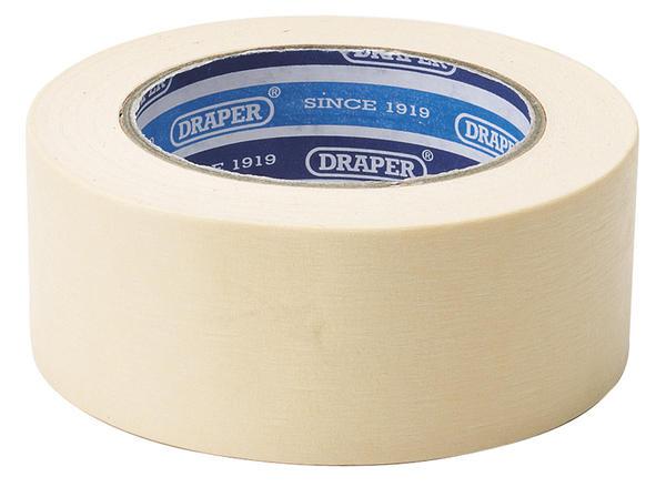 Draper 63479 TP-MASKPRO 50M x 48mm Masking Tape Roll Thumbnail 1
