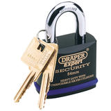 Draper 64195 8311/70 Expert 70mm Heavy Duty Padlock and 2 Keys with Super Tough Molybdenum Steel Shackle