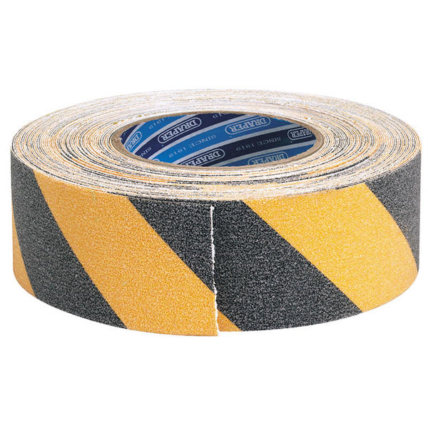 Draper 65440 TP-S/GRIP/HZ 18m x 50mm Black and Yellow Safety Grip Tape Thumbnail 1