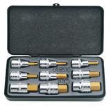 "Elora 66202 770-INMTIN 9 Pc Hex Key Socket Set 1/2"" Dr"