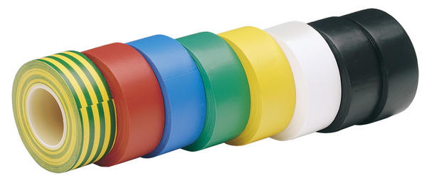 Draper 68157 619MC Expert 8 x 10M x 19mm Mixed Colours Insulation Tape to BSEN60454/Type2 Thumbnail 1