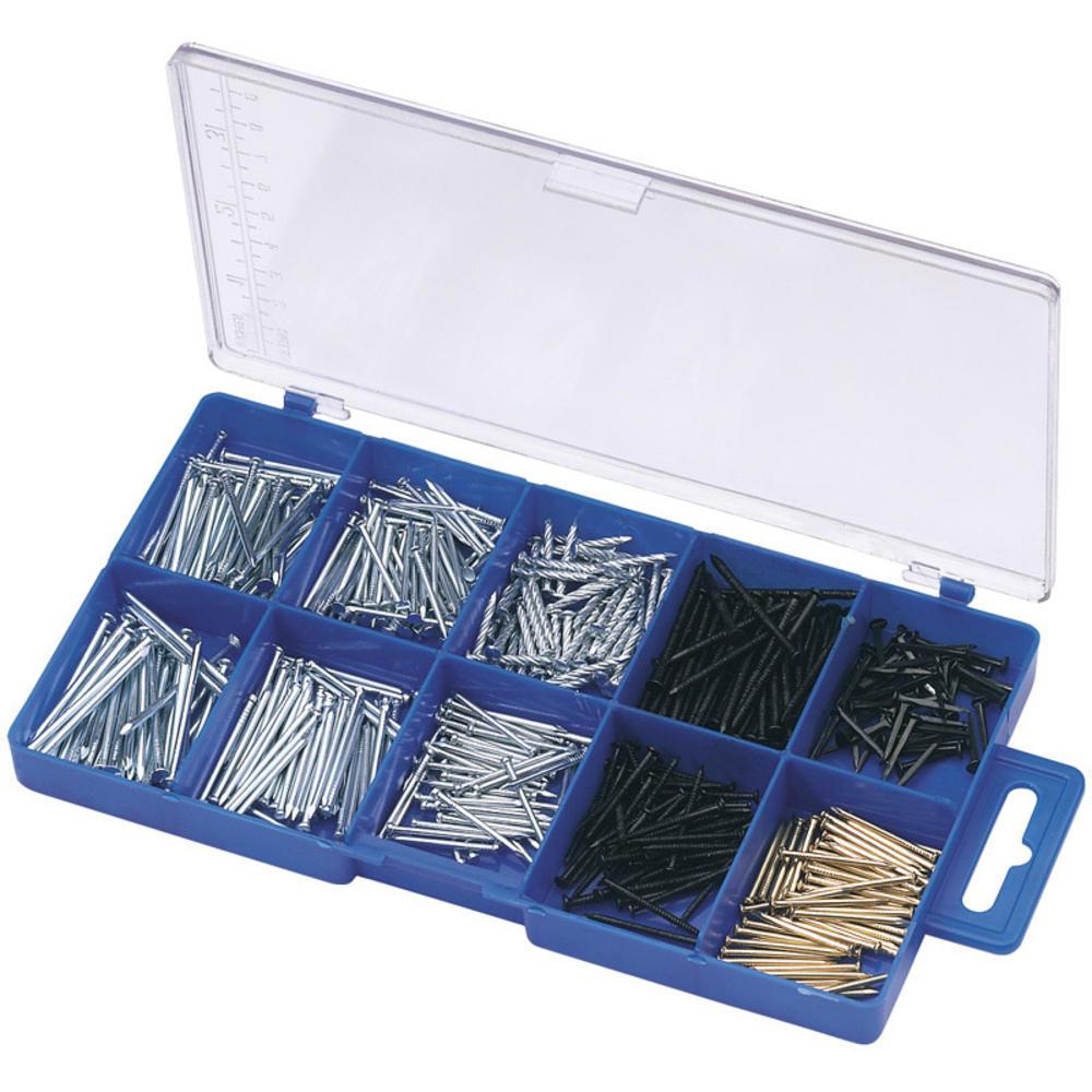 Draper 69042 HW12 Nail and Pin Assortment 485 Pce