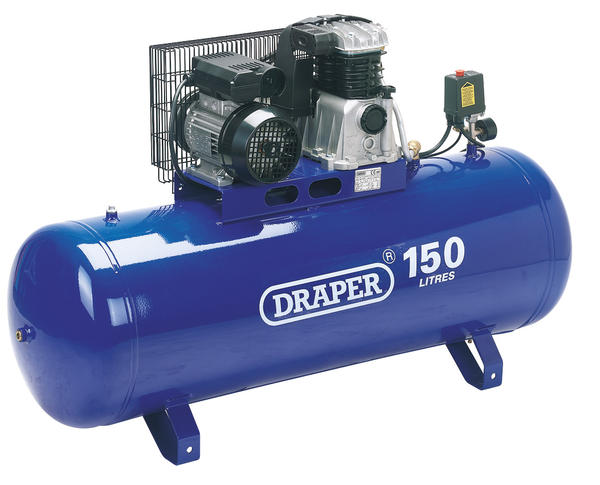 Draper 69337 DA150/392B Expert 150L 230V 2.2kW (3hp)  Stationary Belt-Driven Air Compressor Thumbnail 1
