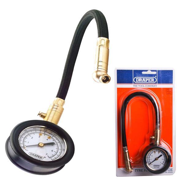 Draper 69924 TPG100A Tyre Pressure Gauge with Flexible Hose Thumbnail 1