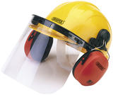 Draper 69933 SHEMV Safety Helmet with Ear Muffs and Visor