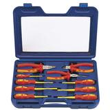 Draper 71155 VDESET1 Expert 10Pc VDE Insulated Plier & Screwdriver Set