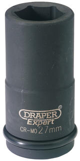 Draper 71908 411D-MM 27mm 3/4 Sq. Dr. 6 Pt. Deep Impact Socket