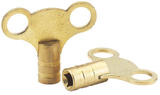 Draper 73965 RKB Pair Of Brass Radiator Keys