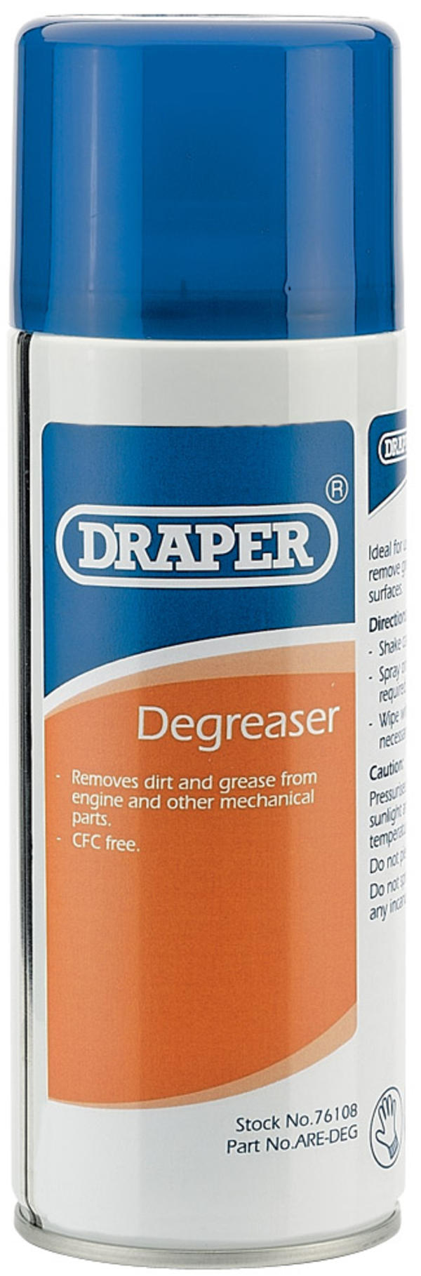Draper 76108 ARE-DEG 400Ml Degreaser Thumbnail 1