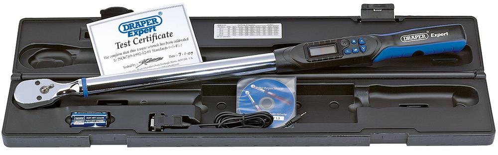 "Draper 77990 ETW68-340 1/2""68-340Nm Electronic Torque Wrench"