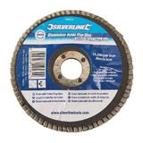 Silverline 196514 Aluminium Oxide Flap Disc 100mm 60 Grit