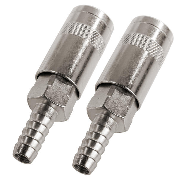 Silverline 282467 8mm Air Line Hose End Quick Coupler (Pack of 2) Thumbnail 1