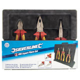 Silverline 282501 VDE Pliers Set 3 Piece