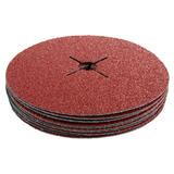 Silverline 371755 Fibre Discs 180mm x 22.2mm 36 Grit 10 Pack