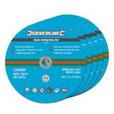 Silverline 380650 Stone Cutting Discs Flat 5pk 230 x 3 x 22.23mm