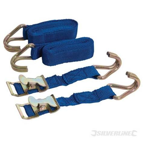 Silverline 449215 Easy-Lock Straps Set 2pce Thumbnail 1