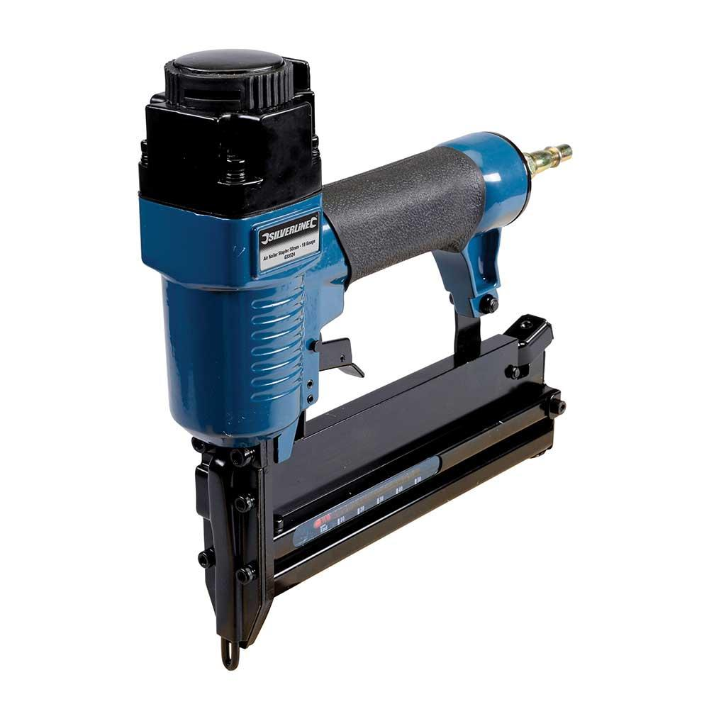Silverline 633524 Air Nailer Stapler 50mm