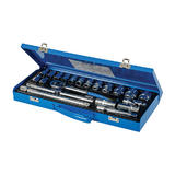 "Silverline 675046 Socket Wrench Set 1/2"" Drive Metric 10 - 32mm (21 Piece)"