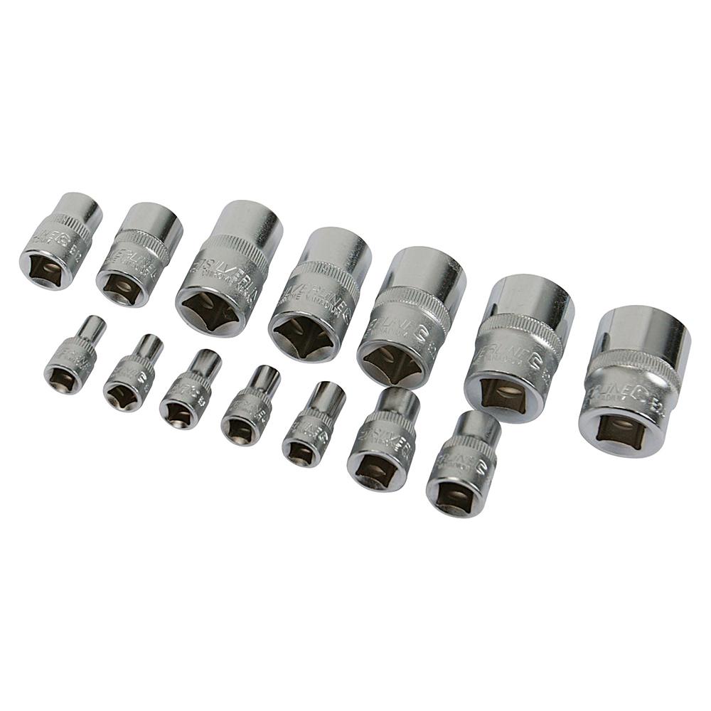 Silverline 675072 Female Torx Socket Set Trx Ex Set 14pce