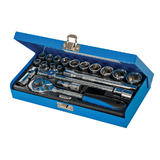 "Silverline 868524 Socket Wrench Set 3/8"" Drive Metric (20 Piece)"