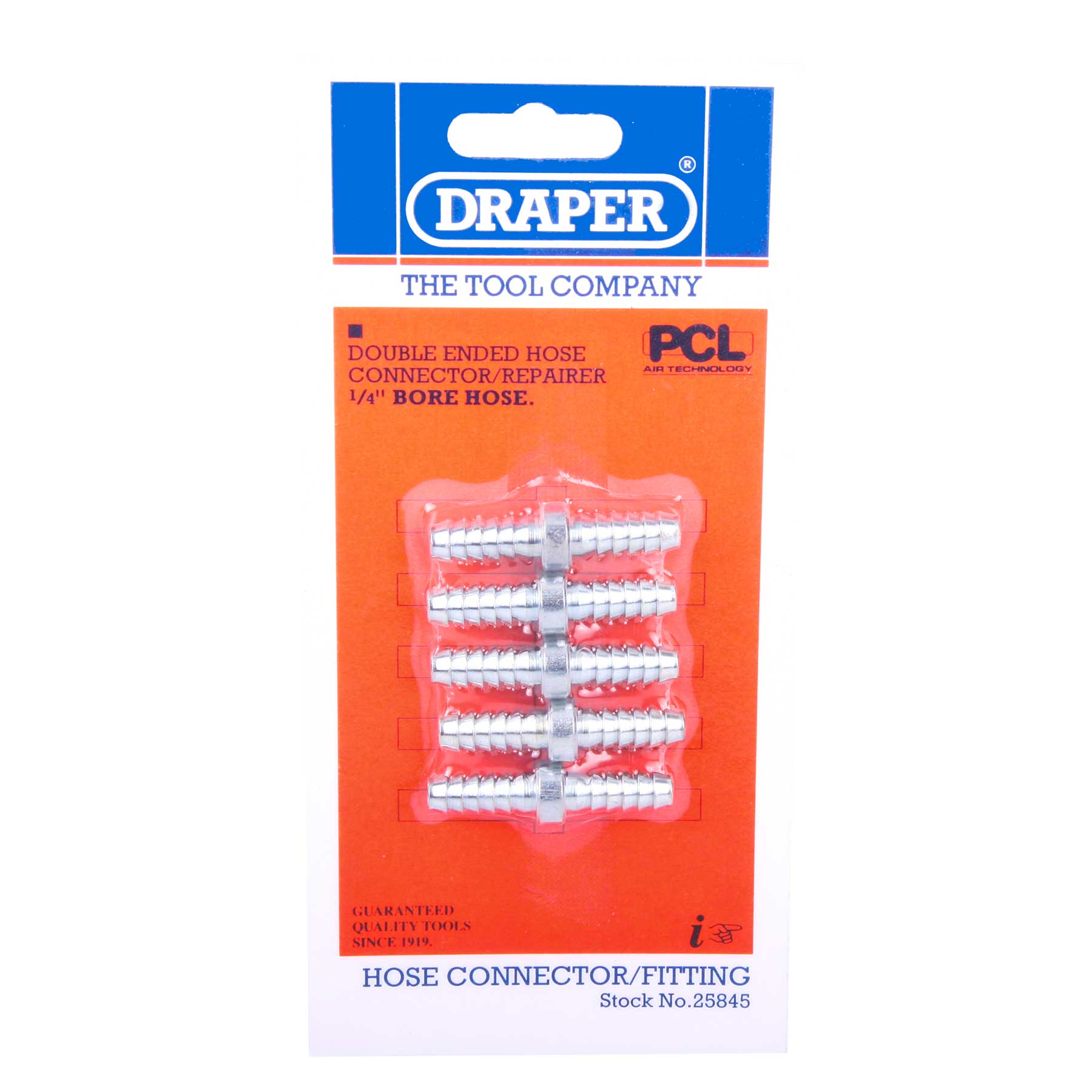 Draper 25845 A2983 5 X 14 Inch Bore Hose Connector Repair pack of 5 Thumbnail 1